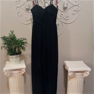 Band Of Gypsies Black Wide Leg Jumpsuit